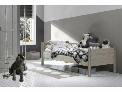 Alta bedbank kinderbed steigerkleur stone grey massief hout jongensbed