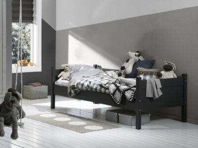 Robuuste bedbank antraciet/zwart