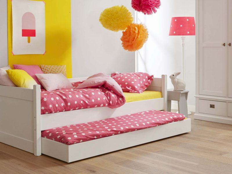 Alta bedbank met matraslade logeerbed snow white wit ral 9016