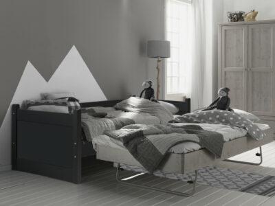 Bedbank met uitschuifbed antraciet/stone grey