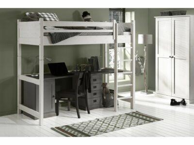 White wash hoogslaper met bureau