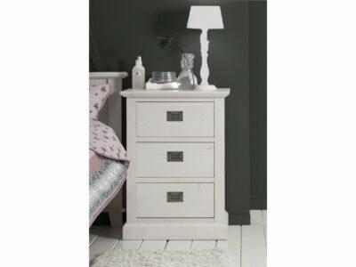 White wash nachtkastje landelijke stijl