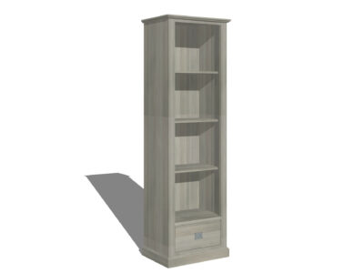 Smalle landelijke boekenkast Steigerkleur