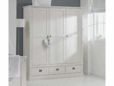 White wash kledingkast 3-deurs