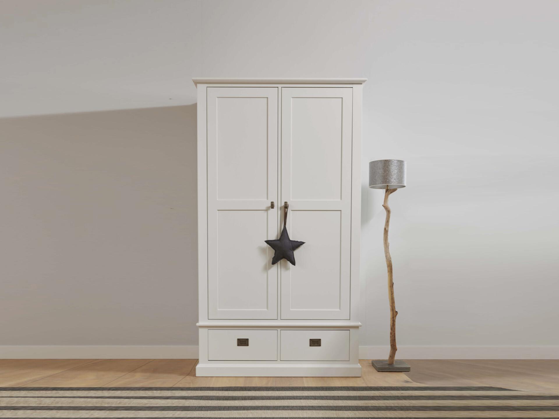 Witte kledingkast met 2 deuren voor kinderen