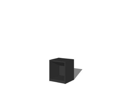 Vakkenkast 1 vak antraciet/zwart