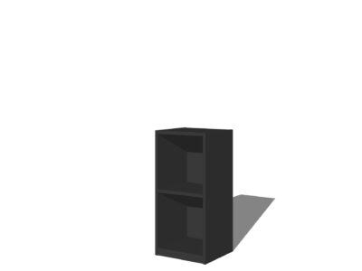 Vakkenkast 2 vakken Antraciet/zwart