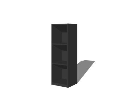Vakkenkast 3 vakken Antraciet/zwart